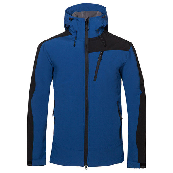 Outdoor Soft Shell Clothing Men Autumn Winter north Fleece and Thickened Warm Waterproof Wind-proof Soft Shell face Coat 1720