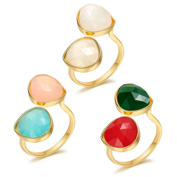 Dayoff Korean Harz Kreis Ring Für Frauen Männer Schmuck Geometrische Einstellbare Offene Bunte Legierung Ringe 2019 R365