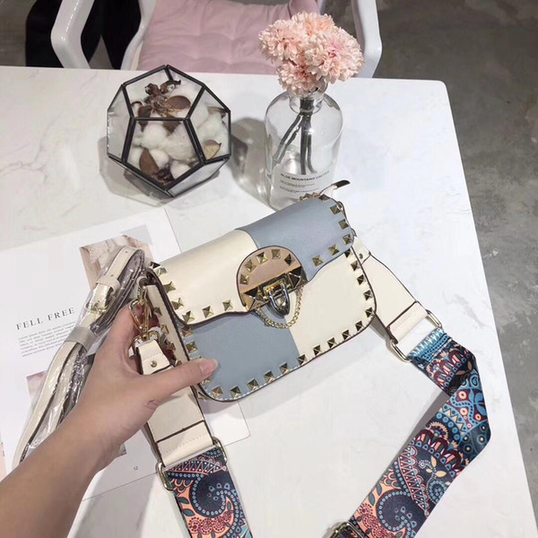 Designer-Women Luxury Genuine Leather Flap Bag Women messenger Wide Strap Bag Casual Lady Handbag Shoulder Bags Style Female Bags