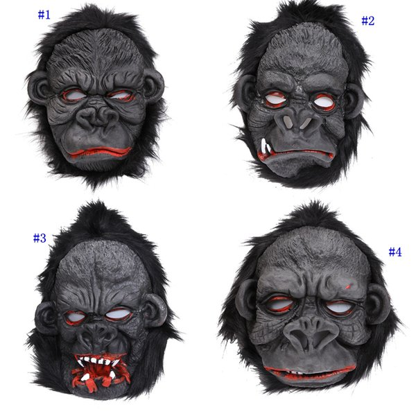 Orangutan maschera di Halloween spaventoso Ape mascherina di orrore del silicone di Cosplay Orangutan Orangutan Maschera Costume Party piede rifornimento MMA2958