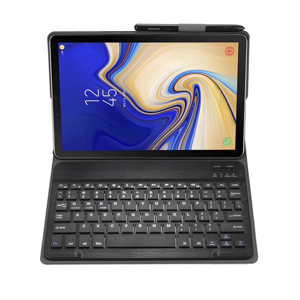 "Business Leather Case Smart Cover with Bluetooth Keyboard for Samsung Galaxy Tab S5e 10.5"" 2019 T720 T725 Tablet + Stylus"