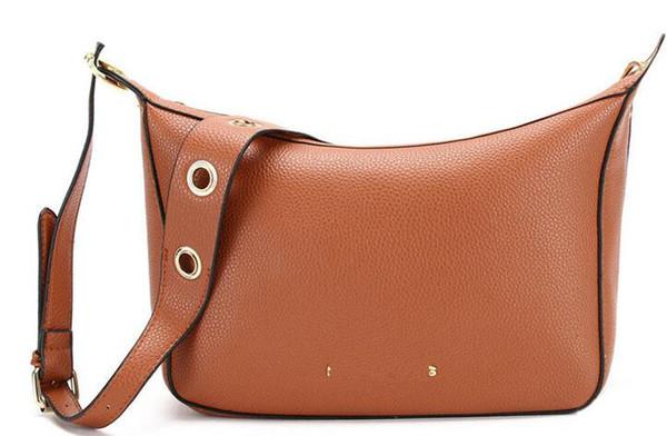 Der Vogue-Art-Handtaschen-Schulter-Mitteilung der neuen Entwurfs-Frauen des Verschiffen-201 sackt schwarzes rosafarbenes Braun 3 Farben M Größe # 5839 ein