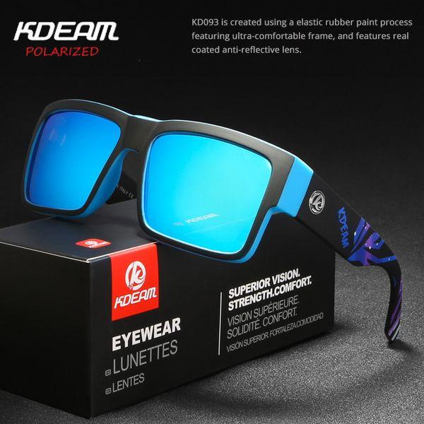 KDEAM Женщины Мужчины Солнцезащитные очки Леди Человек Поляризованные очки Летние спортивные очки Beach Dirve Kd093 Dropshipping