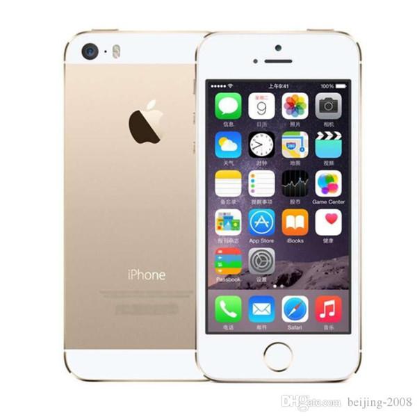 refurbished Original Apple iPhone 5S Dual core 16GB 4.0 inch 640x1136 IPS screen IOS 3G WCDMA 8MP fingerprint unlocked phone