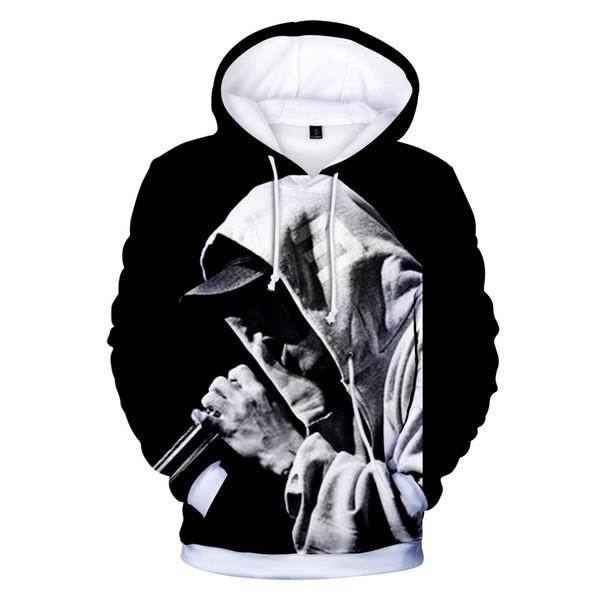 EMINEM 3D Дизайнер Мужские Толстовки Мода Eminem Печати Толстовки С Капюшоном Hommes Пуловеры