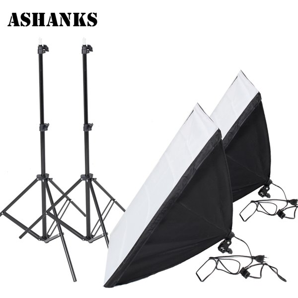 older tripod Photography Accessories Light Softbox Kit for Studio Photo E27 Lamp Holder 2PCS Reflective Light Box with 2M Lights Stand Tr...