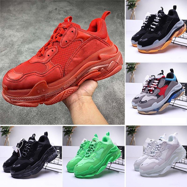 2020 New TopQualityBalenciagaTripleSLuxury Designer Casual Low Old Dad Sneaker Men Women Trainers Shoes Size 36 45 Comfortable Shoes Discount