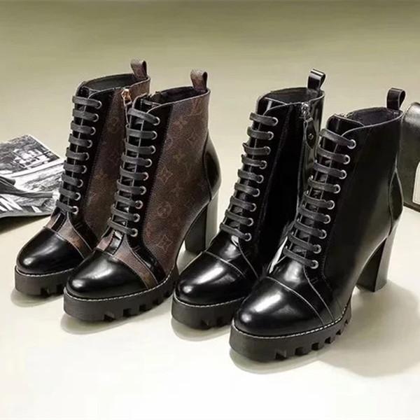2019 Designers Brand Womens Boots Fashion Short Leather Stitching Elastic Cloth Winter Boot Designer Brand Womens
