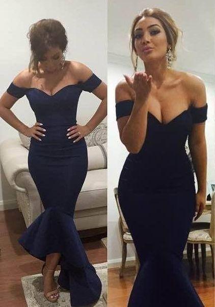Off Shoulder Slim High Low Slim Prom Dresses Short Vestidos De Soiree Custom Ladies Evening Party Gowns Modest Plus Size Cheap