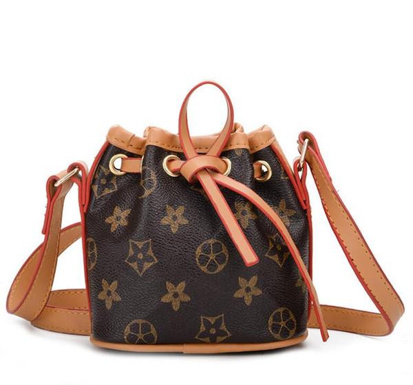 Fashion Baby Girls Shoulder Bucket Bags For Kids Old Floral Pattern Small Mini Children Designer Messenger Bag