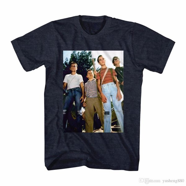 Camisas personalizadas Camiseta de manga corta para hombre O-cuello Stand By Me Stand Off Camiseta Heather azul marino para hombre Nuevos tamaños Camisa 3XL
