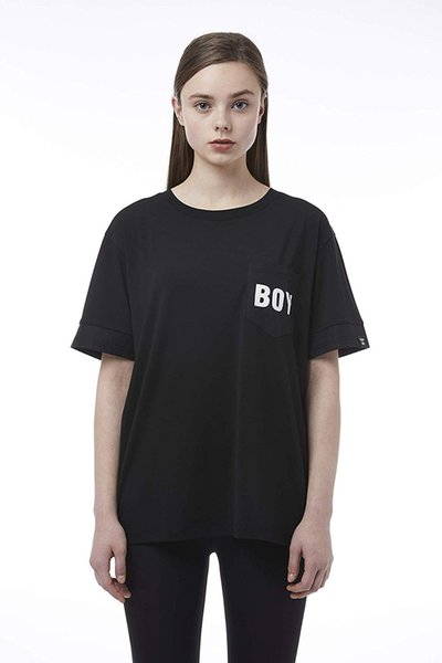 BOY LONDON Summer break, stylish and breathable Woven Block Pocket Eagle Tshirt BH2TS140WH - White