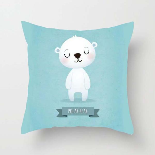 Bao Car Pillow Cute Animal Simple Single Sided Pillowcase