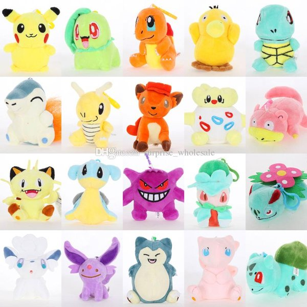 Plush Dolls Ball 10cm Stuffed Pikachu Plush Toys Leafeon Glaceon Eevee Jolteon Vaporeon Flareon Espeon Umbreon stuffed animals surprise doll