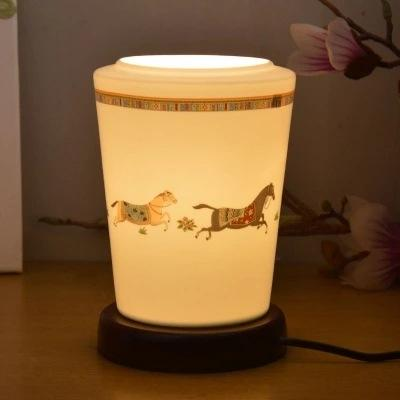 best selling Chinese bedroom study bedside baby eye-care table table Jingdezhen ceramic desk lamp bedroom desk lamp