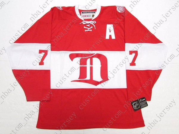 Cheap custom PAUL COFFEY DETROIT RED WINGS ALUMNI VINTAGE CCM HOCKEY JERSEY stitch add any number any name Mens Hockey Jersey XS-5XL