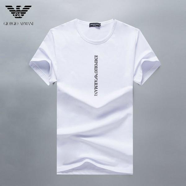 2019 Fashion Brand Men's Short Sleeve T-shirt Stamping Process Printing High Quality Cotton Men's Cool T-shirt Hip-hop H1
