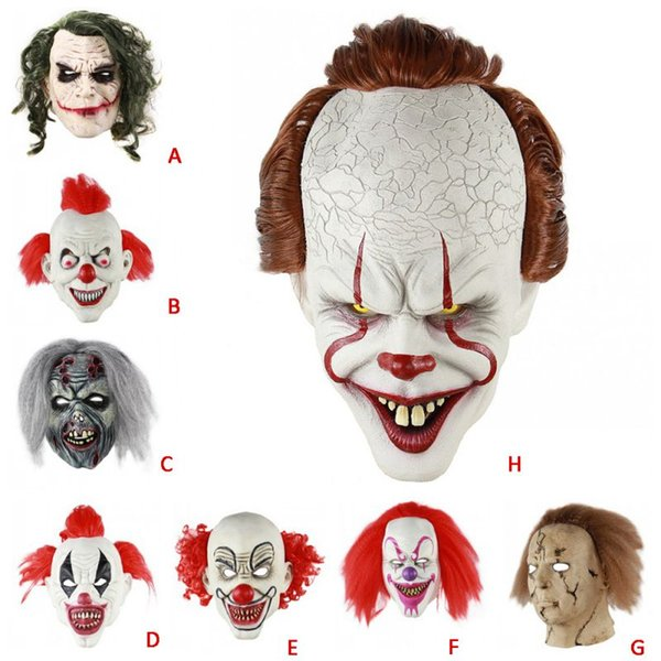 Pennywise Mask Stephen King/'s Clown Mask Halloween Horror Sorcerer One Size New