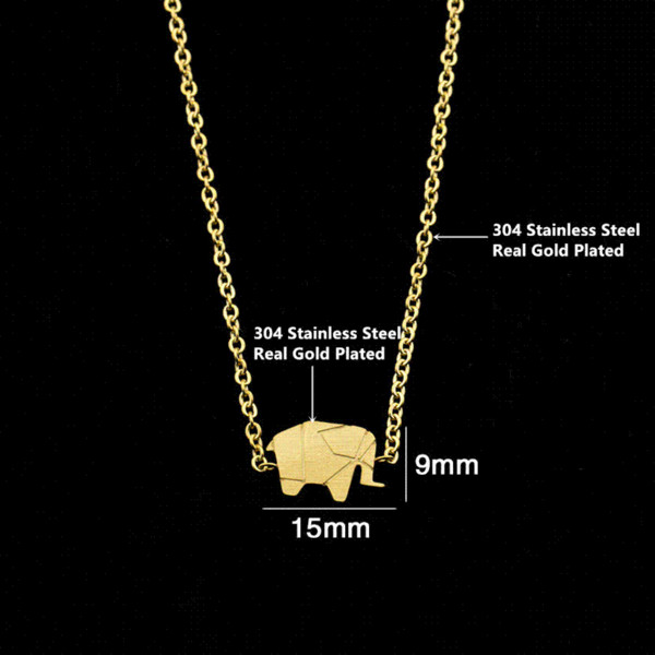 2017 Gold Farbe Charms Armband Femme Edelstahl Frauen Dainty Schmuck Glück Origami Elefanten Armbänder Freundschaft Geschenke BFF