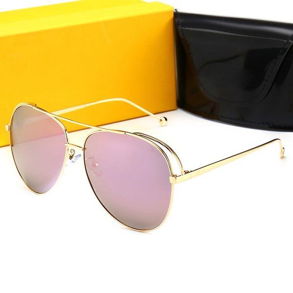 FENDI 0841 Luxus Sonnenbrillen Frauen Designer Beliebte Sonnenbrillen Rahmen Sonnenbrille Kristall Metarial Mode Frauen Stil Kommen Mit Rosa Fall