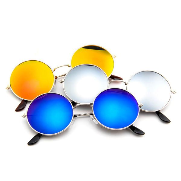 Nueva 2019 ronda moda mujer exterior casual gafas de sol metal UV 400 vintage 8 colores gafas de sol redonda SN-13