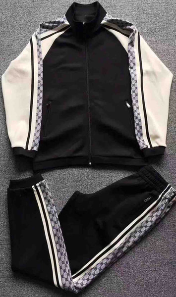 Kkv new luxury men 2018 spring and summer new designer sportswear ~ men's high quality sportswear ~ men's training jogging sportswear suit