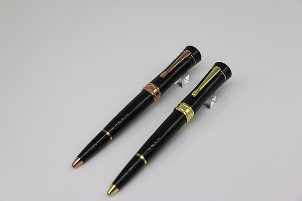 2 style lucky star series Ballpoint Pen made of High grade Black resin with Rose gold/gold trim office school supply gift pen