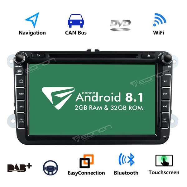 """GPS Navigation 8"""" Android 8.1 Car Stereo DVD Player Radio WiFi DVR for VW Passat"""