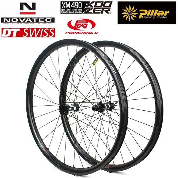 29er MTB Carbon Wheelset 28mm*24mm Use Super Light Carbon Rim Pillar 1423 Spoke For Cross Country/All Mountain Bike Matte Glossy