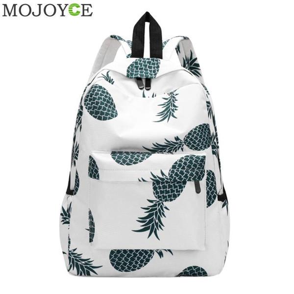 2019 FashionPineapple Printing School Bags For Teenager Girls New Designer Backpack Women Casual Travel Bookbags Laptop Rucksack Mochila Hot
