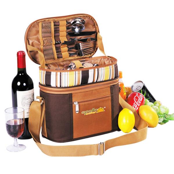 Multifunction bag refrigerator portable cutlery bag cubiertos camping picnic picnic set Travel backpack outdoor