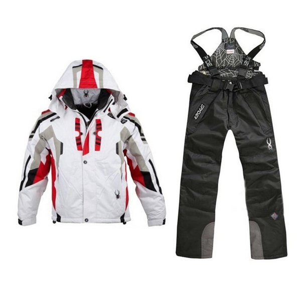 Sci Bib giacca giacca impermeabile Snowboard colorato stampato sci giacca e pantaloni Set vestito per uomini e donne