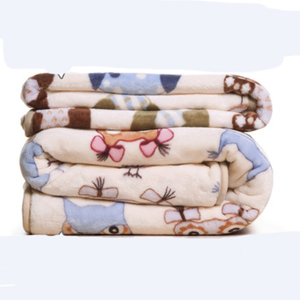 Modern Plush Home Blanket Coral Fleece Student Sleeping Quilt Cover Bedclothes Travel Plaid Baby Swaddle
