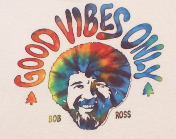 6847a94f0 Bob Ross Good Vibes Only Tie Dye Men'S PBS Joy Of Painting T Shirt ...