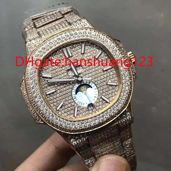 Sehr gute Qualität, ausgezeichnete Herrenarmbanduhren, Diamanten, blaue Muscheln, eine Vielzahl von Farben, eine große Anzahl von Großhandelsgeschäften !!