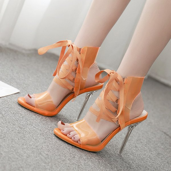 Chinese Wedding Shoes Female Crystal Bridal Red High Heeled Shoes
