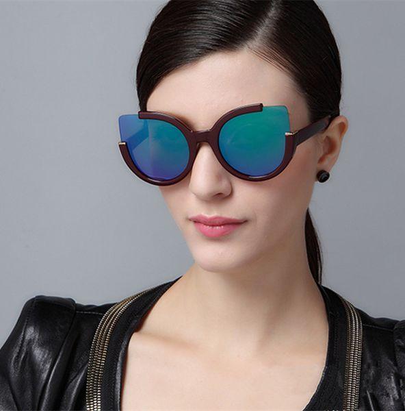 Luxury Brands Designer Sunglasses Women Retro Vintage Protection Female Fashion Sun Glasses Women Sunglasses Vision Care with Logo 8 Colors