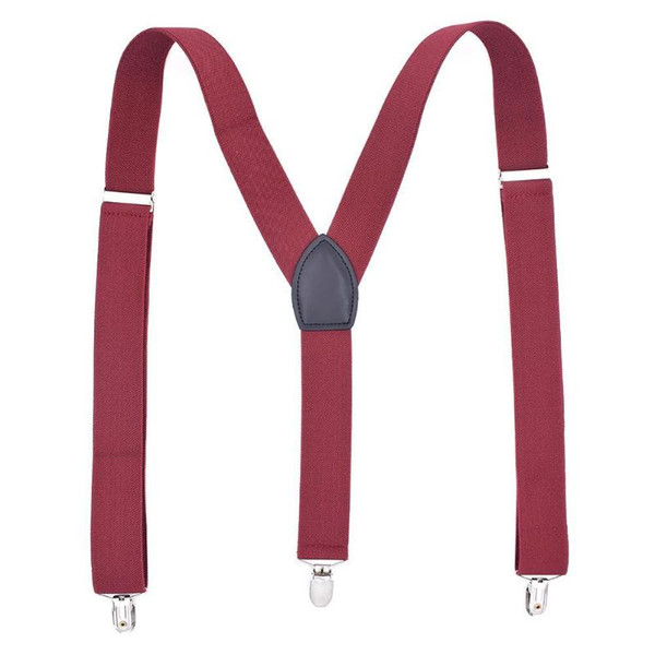 Boys Men Fashion Suspenders 3 Clips Adjustable Elastic Y-Back Belt Braces Clothing Accessories for Pants Jeans Shorts