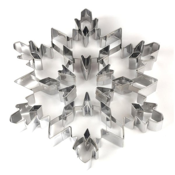 Stainless steel Christmas snowflake Shaped Mold Biscuit Tools Cookie Cake Mold Jelly Pastry Baking Cutter Mould Tool