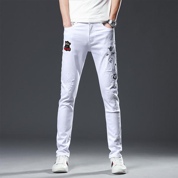 Pantalon de marée blanc, jeans pour hommes, vêtements pour hommes