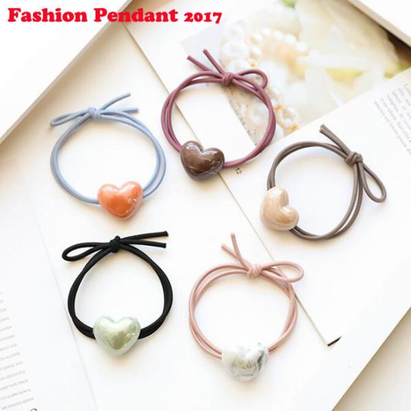 Cute heart shape Princess Headwear Elastic Hair Bands Girls Sparking Mini Headdress Tie Gum Ropes Hair Accessories
