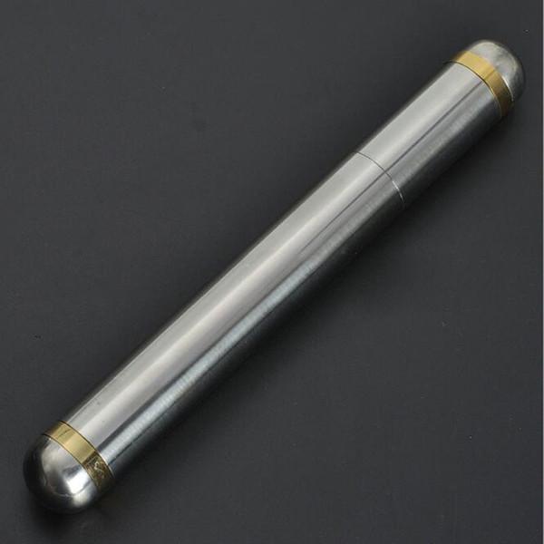 Stainless Steel Travel Cigar Tube Portable Mini Moisture Storage Tube Cigarettes Box Case 210x 24mm Cigar Accessories Gift ZC0556