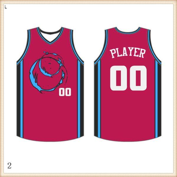 2019 2020 Maillots Basketball Quick Dry rouge bleu broderie Logos Livraison gratuite à bas prix de gros hommes Taille Jersey325