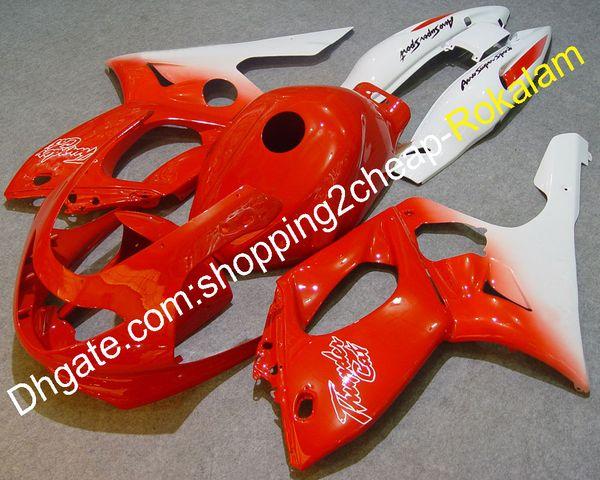 Popular ABS Fairing Kit 97-07 YZF600R Para Yamaha YZF 600 R Thundercat 1997-2007 Branco Vermelho Race Bike Conjunto Completo Carenagens