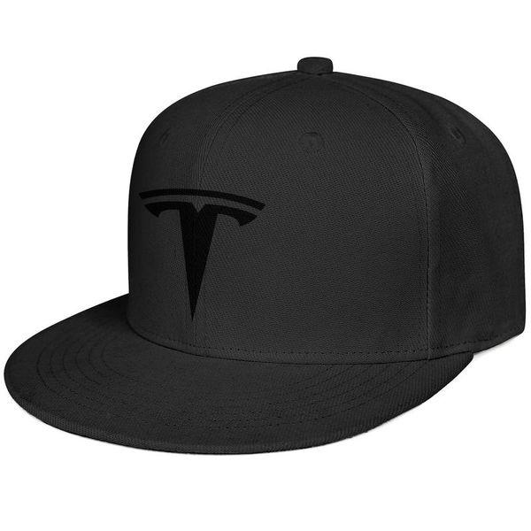 3ed136b9d Womens Mens Flat-along Adjustable Tesla LOGO Rock Punk Cotton Snapback Hats  Summer Hats Cadet