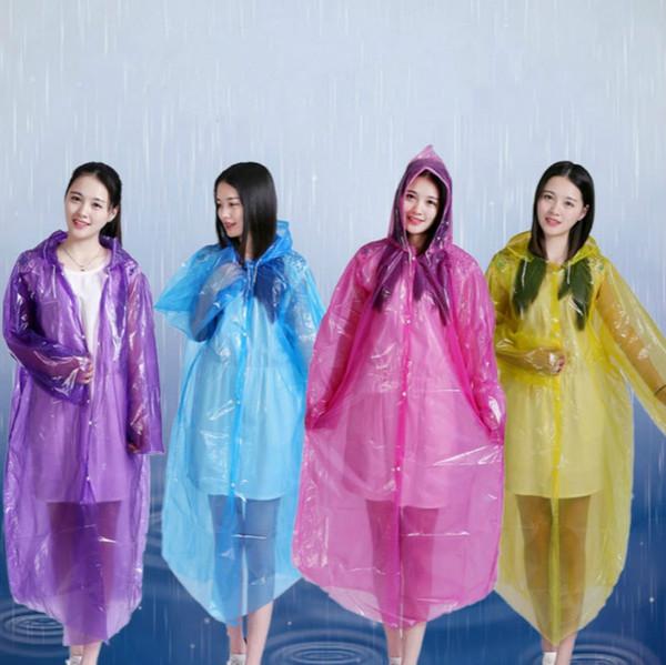 Disposable Portable Unisex Light Hood Poncho Camping Plastic Raincoat Adult Emergency Waterproof Rain coat for Women Men Random #17082