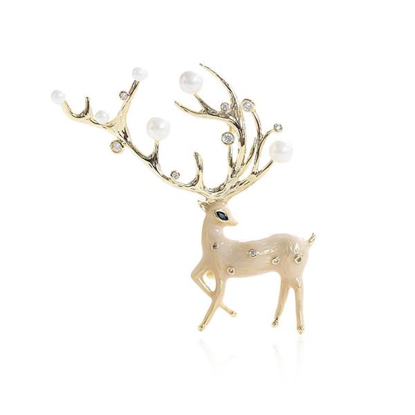 Antique Animal Tête De Cerf Broche Boutons pins badge pour Col Chemise