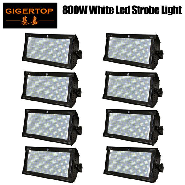 8 X LED Super Strobe Lights 800W White LED Stage Lighting Effect Dj Party Shows Strobe Lights DMX Laser Projector Lights