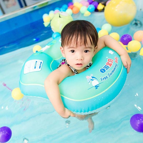 best selling Solid Baby Swimming Ring floating Children Waist no need Inflatable Floats Swimming Pool Toy for Bathtub Swim Trainer