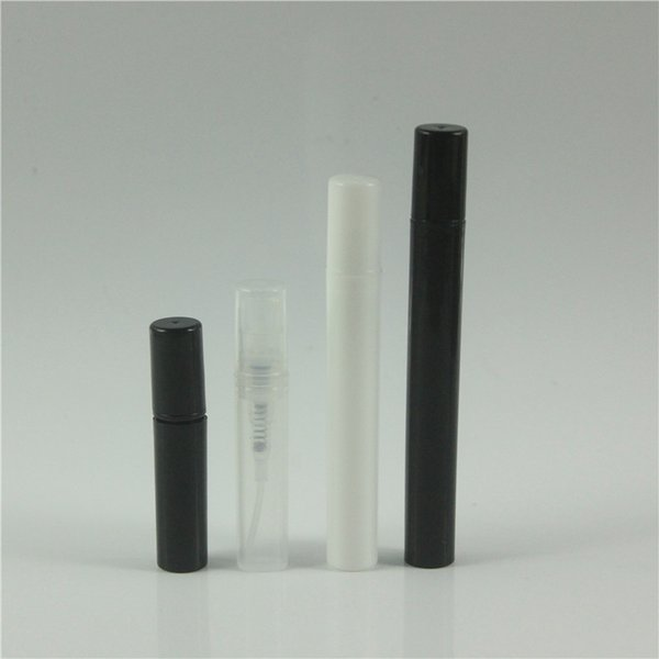 2 3 4 5ml black clear white pla tic pray bottle mall atomizer perfume bottle crimp neck pla tic perfume bottle